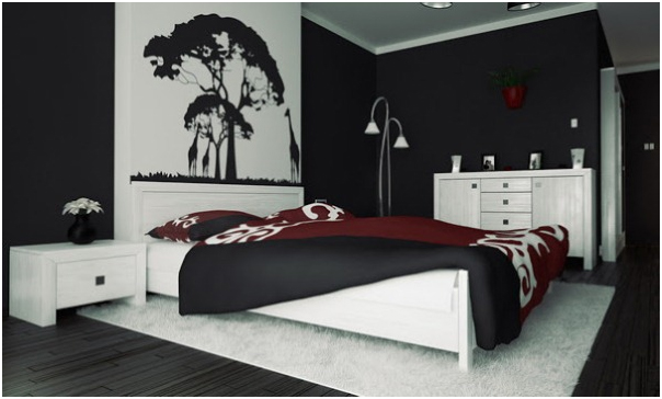 Đen trắng-Gam màu sơn độc đáo cho phòng ngủ cá tính