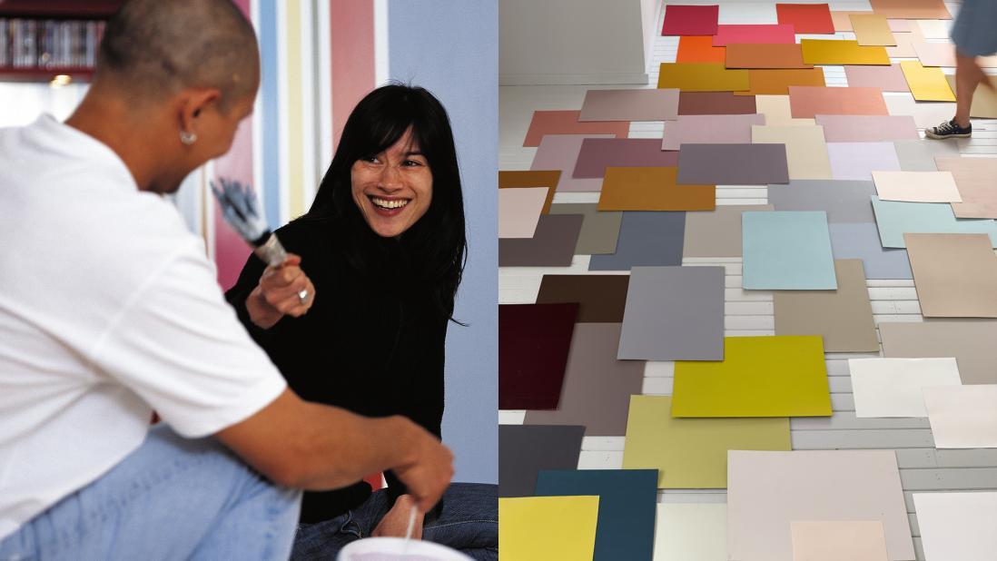 Nghệ thuật sơn nhà dung hòa các cặp đôi có quan điểm khác nhau